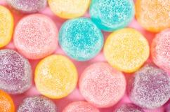 Cukierki cukrowego cukierku galaretowy tło zdjęcia stock
