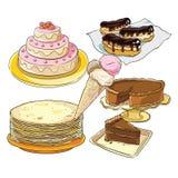 Cukierki dla świątecznego stołu ilustracja wektor