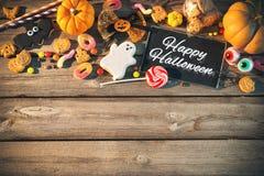 Cukierki dla Halloween sztuczka przysmaki Fotografia Royalty Free