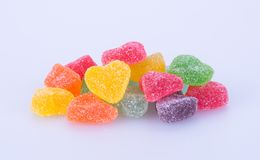 Cukierki galaretowi cukierki na tle galaretowi cukierki na backg Zdjęcie Royalty Free