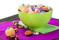 Cukierki i cukierki dla wakacyjny Halloween Zdjęcie Stock