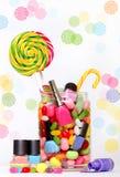 Cukierki i gwoździa połysk Fotografia Stock