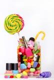 Cukierki i połysku gwóźdź Zdjęcia Royalty Free