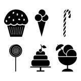 Cukierki ikony set Fotografia Royalty Free