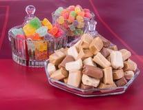 Cukierki Karmel cukierki karmel cukierki na tle caram Zdjęcia Royalty Free