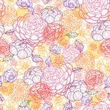 Cukierki kwitnie bezszwowego deseniowego tło Zdjęcie Stock