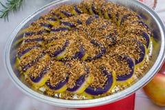 Cukierki robić od Purpurowego ignamu Filipiński naczynie Obrazy Royalty Free