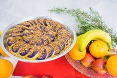 Cukierki robić od Purpurowego ignamu Filipiński naczynie Zdjęcie Stock