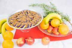 Cukierki robić od Purpurowego ignamu Filipiński naczynie Fotografia Stock