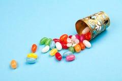 Cukierki, rozpraszający od rocznika szkła obrazy royalty free