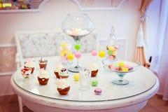 Cukierki stół Fotografia Stock