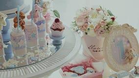 Cukierki stół dla pierwszy urodziny zbiory