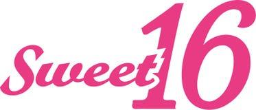 Cukierki szesnaście 16th urodziny Zdjęcie Stock