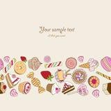 Cukierki tło z miejscem dla twój teksta Zdjęcie Stock