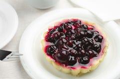 Cukierki tort z czarnymi rodzynkami Obraz Royalty Free