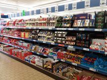Cukierki w supermarkecie Fotografia Stock