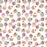 Cukierki wzór Fotografia Royalty Free