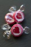Cukierki z sercami Zdjęcia Stock