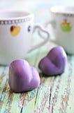 cukierku ścinku serce odizolowywający ścieżki kształta biel Obrazy Royalty Free