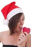 cukierku łasowanie Santa Zdjęcie Stock