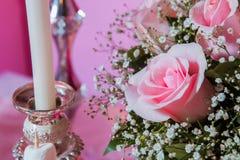 Cukierku bar Cukierku bar Menchii róży menchii tło Walentynka dnia tło Obrazy Stock