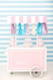Cukierku bar Wystrój dla dziecka ` s lub dziecka ` s przyjęcia urodzinowego Zdjęcia Royalty Free