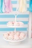 Cukierku bar Wystrój dla dziecka ` s lub dziecka ` s przyjęcia urodzinowego Obrazy Royalty Free