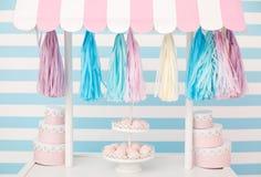 Cukierku bar Wystrój dla dziecka ` s lub dziecka ` s przyjęcia urodzinowego Zdjęcia Stock
