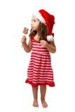 cukierku bożych narodzeń dziewczyna zdjęcia stock