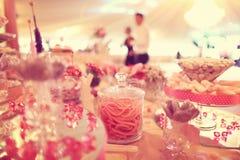 Cukierku bufet na stole zdjęcie royalty free