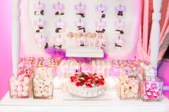 Cukierku cukierki i baru bufet zdjęcie stock