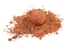 cukierku czekoladowa kakaowego proszka trufla Zdjęcie Royalty Free