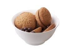 cukierku czekoladowy ciastek oatmeal Zdjęcia Royalty Free