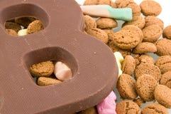 cukierku czekolady listu sinterklaas Obraz Stock
