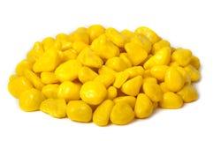 Cukierku koloru żółtego otoczaki Obraz Royalty Free