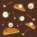 Cukierku szablonu sklepowy projekt, słodcy desery, wektor ilustracji