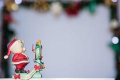 cukierku trzciny bożych narodzeń ornamentu śniegu drzewo Zdjęcia Royalty Free
