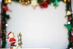 cukierku trzciny bożych narodzeń ornamentu śniegu drzewo Zdjęcie Royalty Free
