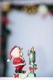cukierku trzciny bożych narodzeń ornamentu śniegu drzewo Fotografia Royalty Free