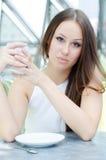 cukierniana filiżanki herbaty kobieta Obrazy Royalty Free