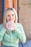 cukierniana kawowa target49_0_ kobieta Obrazy Stock