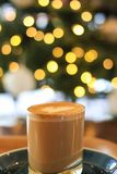 cukierniana latte sztuka z bokeh zdjęcia royalty free
