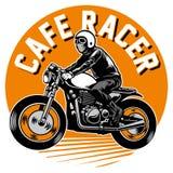 Cukierniana setkarza motocyklu odznaka ilustracja wektor