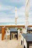 cukiernianego chmurnego dzień pusty pobliski morze Zdjęcia Royalty Free