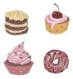 cukiernianego projekta pomysłu ładni restauracyjni ustaleni cukierki Obraz Stock
