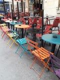 cukierniani bistr krzesła w Francja zdjęcie royalty free