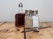 Cukierniani condiments i łasowań żelaza fotografia royalty free