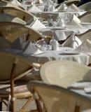 cukierniani stołów znajdujące się na zewnątrz obraz stock