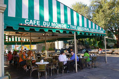 cukierniany Du Monde nowy Orleans Obrazy Royalty Free
