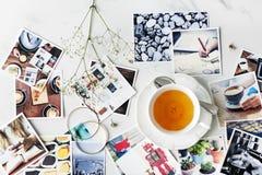 Cukierniany Herbaciany czas przerwy relaksu fotografii pojęcie Obrazy Royalty Free
